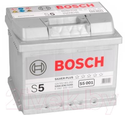 Автомобильный аккумулятор Bosch S5 Silver Plus 52 R (52 А/ч)