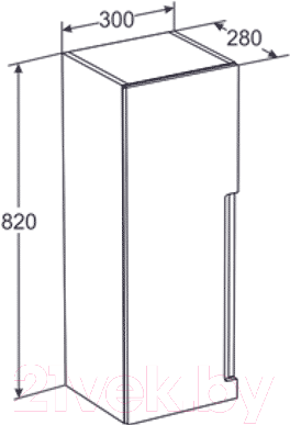 Шкаф-полупенал для ванной Santek Рандеву Н (1.WH5L.1.512)
