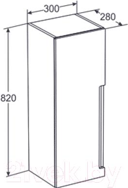 Шкаф-полупенал для ванной Santek Рандеву Н (1.WH5R.1.512)
