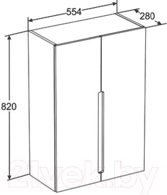 Шкаф для ванной Santek Рандеву Н (1.WH50.1.513)