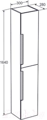 Шкаф-пенал для ванной Santek Рандеву (1.WH50.1.493)