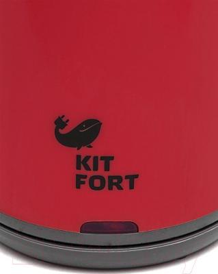 Электрочайник Kitfort KT-607-2 (красный)