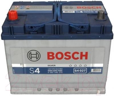 Автомобильный аккумулятор Bosch S4 027 570 413 063 JIS / 0092S40270 (70 А/ч)