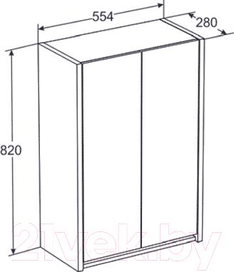 Шкаф-полупенал для ванной Santek Домино (1.WH50.1.472)