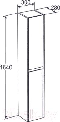 Шкаф-пенал для ванной Santek Домино (1.WH50.1.466)