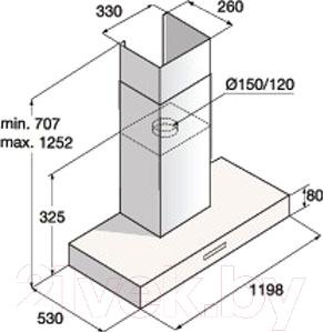 Вытяжка Т-образная Asko CW4176S