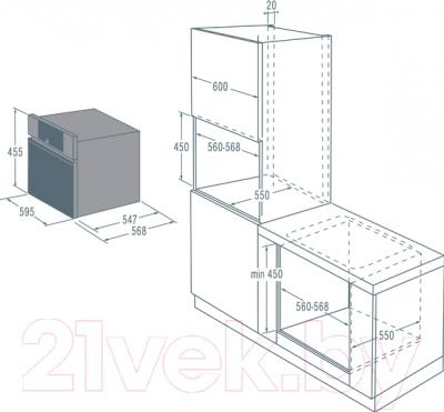 Электрический духовой шкаф Asko OCM8456S