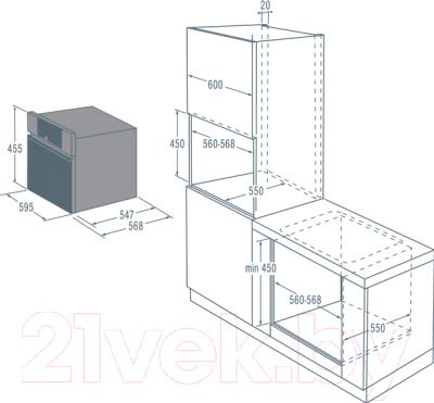 Электрический духовой шкаф Asko OP8478G