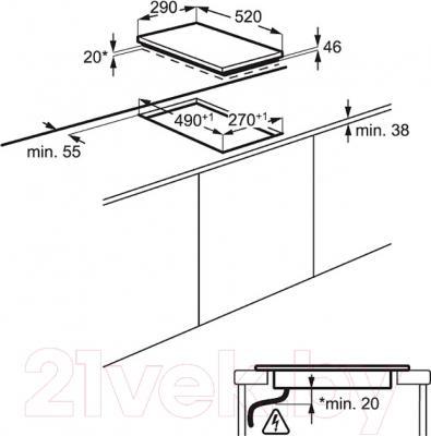 Электрическая варочная панель Electrolux EHF93320NK