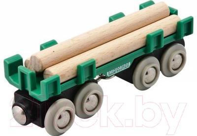 Элемент железной дороги Brio Вагон с бревнами 33696