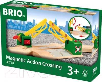 Элемент железной дороги Brio Переезд на магнитах 33750