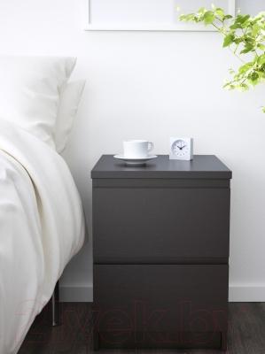 Прикроватная тумба Ikea Мальм 001.033.43 (черный/коричневый)