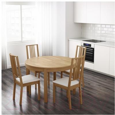 Обеденный стол Ikea Бьюрста 001.167.79 (дубовый шпон)