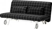 Чехол на диван - 2 местный Ikea ПС 001.847.92 (черный/белый) -