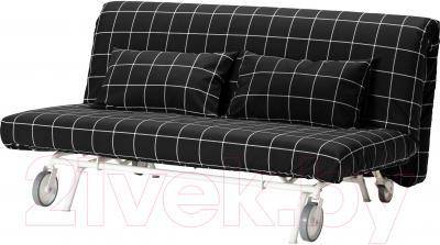 Чехол на диван - 2 местный Ikea ПС 001.847.92 (черный/белый)