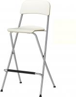 Стул Ikea Франклин 001.992.08 (белый/серебристый) -
