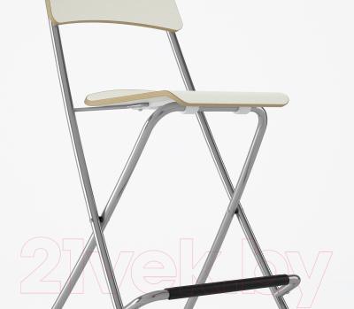 Стул Ikea Франклин 001.992.08 (белый/серебристый)