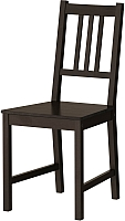 Стул Ikea Стефан 002.110.88 (коричнево-черный) -