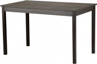 Обеденный стол Ikea Олмстад 002.403.64 (коричнево-черный) -