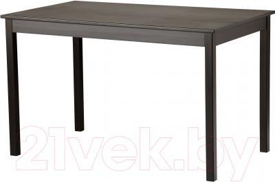 Обеденный стол Ikea Олмстад 002.403.64 (коричнево-черный)