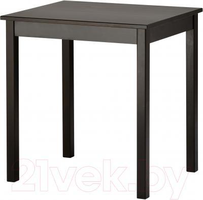 Обеденный стол Ikea Олмстад 002.403.78 (коричнево-черный)