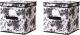 Набор коробок для хранения Ikea Гарнитур 002.501.26 (черный/белый) -