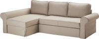 Чехол на угловой диван Ikea Баккабру 002.609.36 (бежевый) -