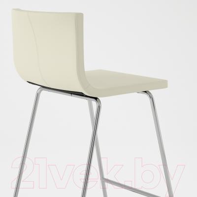 Стул Ikea Бернгард 002.726.56 (белый/хром)