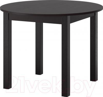 Обеденный стол Ikea Бьюрснэс 002.828.39 (черно-коричневый)