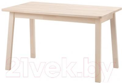 Обеденный стол Ikea Норрокер 002.908.15 (белый/береза)