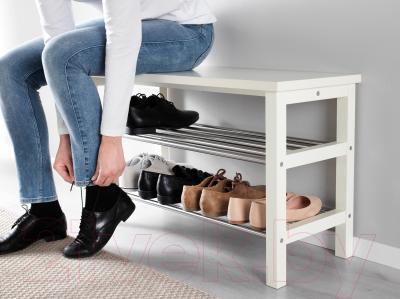 Скамья Ikea Чусиг 002.990.62 (с полкой для обуви) - в интерьере