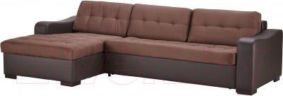 Угловой диван-кровать Ikea Лиарум 003.003.34 (коричневый/темно-коричневый)