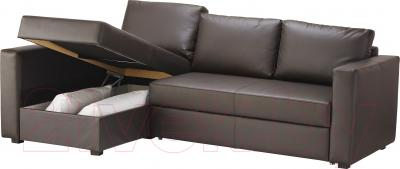 Угловой диван-кровать Ikea Монстад 003.265.84 (темно-коричневый)