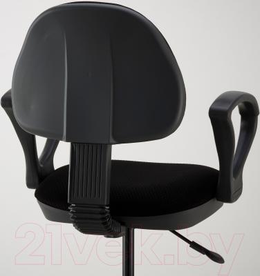 Кресло офисное Ikea Бальдриан 101.011.26 (черный/серый) - вид сзади