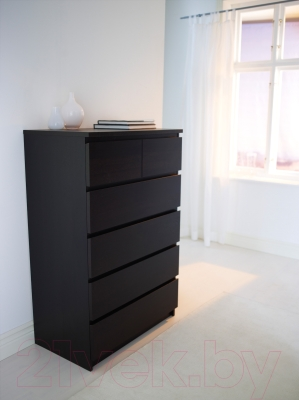 Комод Ikea Мальм 101.033.47 (черно-коричневый)