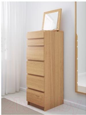 Комод Ikea Мальм 101.065.05 (дубовый шпон)