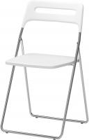 Стул Ikea Ниссе 101.150.67 (белый глянцевый/хром) -