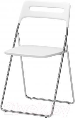 Стул Ikea Ниссе 101.150.67 (белый глянцевый/хром)