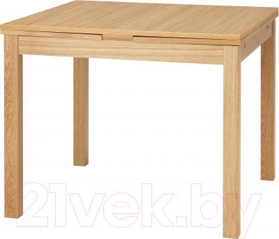 Обеденный стол Ikea Бьюрста 101.168.11 (дубовый шпон)