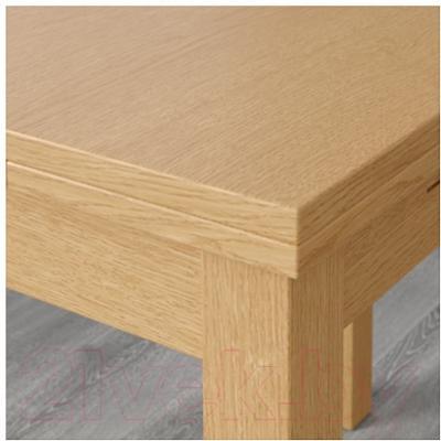 Обеденный стол Ikea Бьюрста 101.168.11 (дубовый шпон) - Инструкция по сборке
