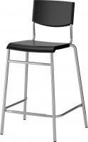 Стул Ikea Стиг 101.527.00 (черный/серебристый) -