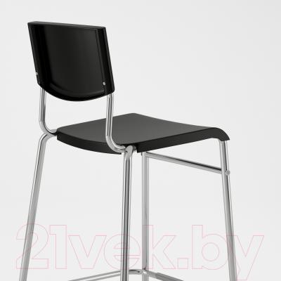 Стул Ikea Стиг 101.527.00 (черный/серебристый)
