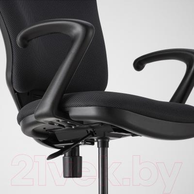Кресло офисное Ikea Бьергульф 101.604.70 (серый) - регулировка высоты и глубины сиденья