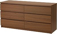 Комод Ikea Мальм 103.152.88 (коричневая морилка/ясеневый шпон) -