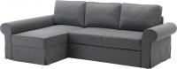 Чехол на угловой диван Ikea Баккабру 103.232.31 (темно-серый) -