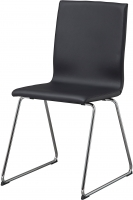 Стул Ikea Вольфганг 103.278.99 (черный/хром) -
