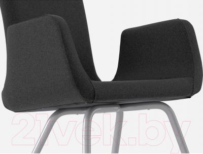 Стул офисный Ikea Патрик 200.646.23 (темно-серый Уллеви) - вид спереди