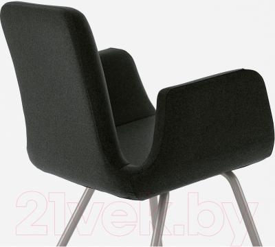 Стул офисный Ikea Патрик 200.646.23 (темно-серый Уллеви) - вид сзади