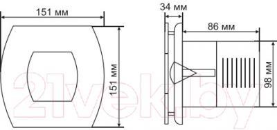 Вентилятор вытяжной Grand Soft 100 Standart (белый)