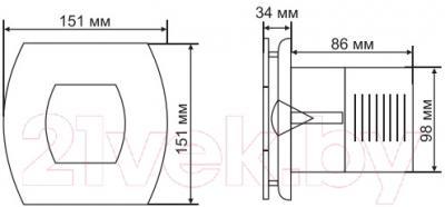 Вентилятор вытяжной Grand Soft 100 Standart (нержавеющая сталь)